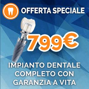 Impianto dentale solo 799 euro
